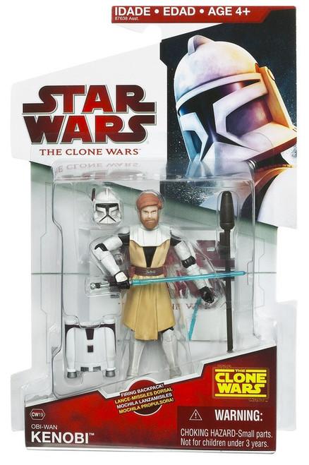 Star Wars The Clone Wars 2009 Obi-Wan Kenobi Action Figure CW19 [Firing Backpack]