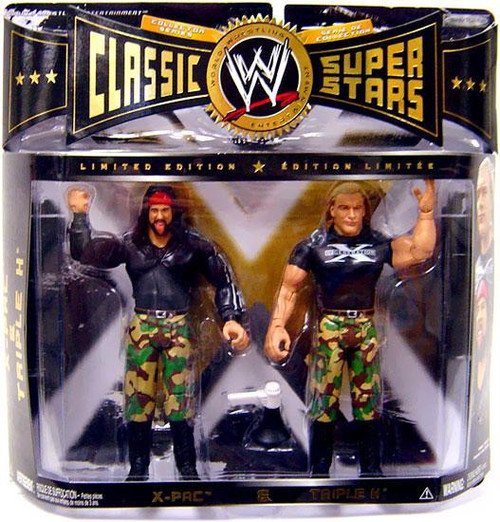 WWE Wrestling Classic Superstars X-Pac & Triple H Action Figure 2-Pack