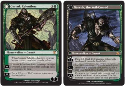 MtG Innistrad Mythic Rare Garruk Relentless / Garruk, the Veil-Cursed #181 [Regular]