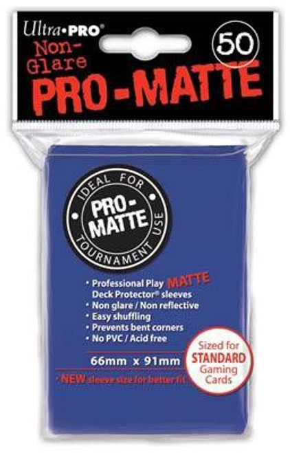 Ultra Pro Card Supplies Non-Glare Pro-Matte Blue Standard Card Sleeves [50 Count]