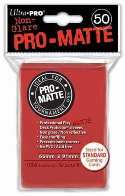 Ultra Pro Card Supplies Non-Glare Pro-Matte Red Standard Card Sleeves [50 Count]
