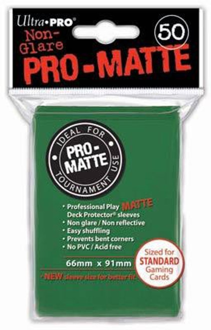 Ultra Pro Card Supplies Non-Glare Pro-Matte Green Standard Card Sleeves [50 Count]
