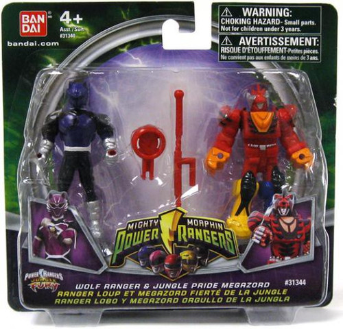 Power Rangers Mighty Morphin 2009 Wolf Ranger & Jungle Pride Megazord Action Figure 2-Pack