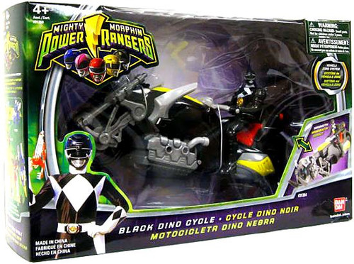 Power Rangers Mighty Morphin Black Dino Cycle Action Figure Vehicle
