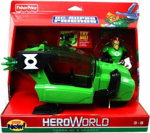 Fisher Price Green Lantern DC Super Friends Hero World Tomar-Re Action Figure Set