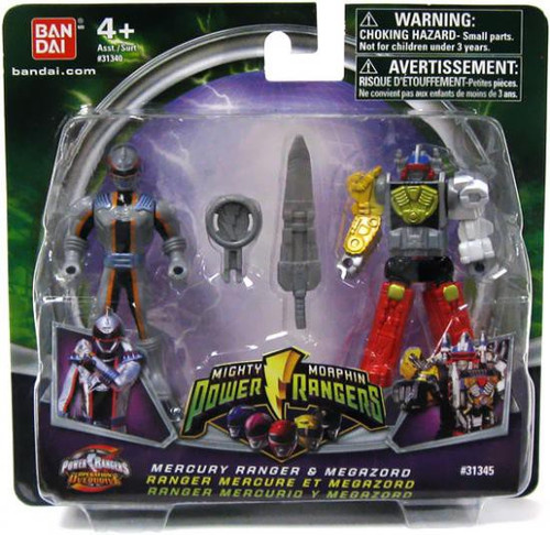 Power Rangers Mighty Morphin 2009 Mercury Ranger & Megazord Action Figure 2-Pack