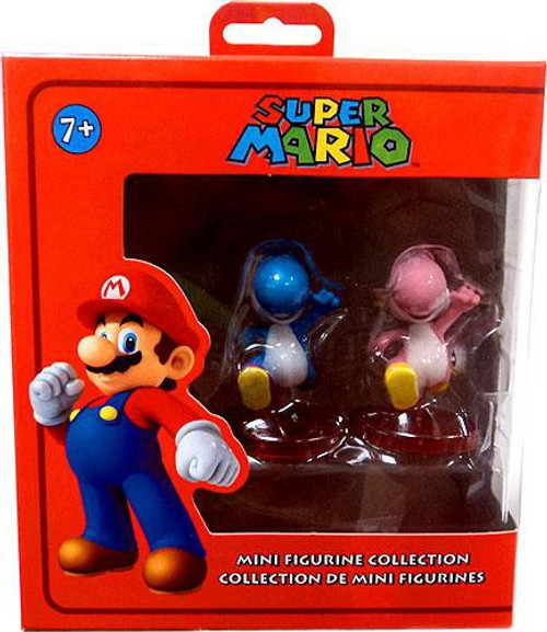Super Mario Blue Yoshi & Pink Yoshi Mini Figure 2-Pack