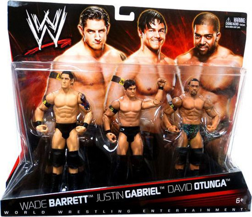 WWE Wrestling Wade Barrett, Justin Gabriel & David Otunga Exclusive Action Figure 3-Pack
