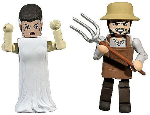 Universal Monsters MiniMates The Bride of Frankenstein & Villager Exclusive Minifigure 2-Pack