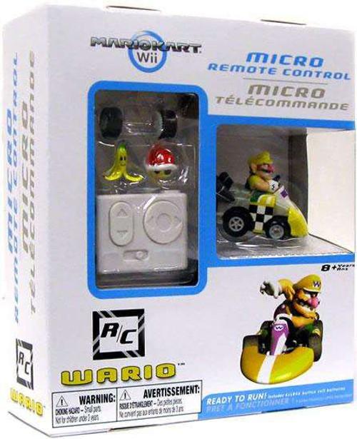 Super Mario Mario Kart Wii Micro Remote Control Wario Exclusive R/C Vehicle