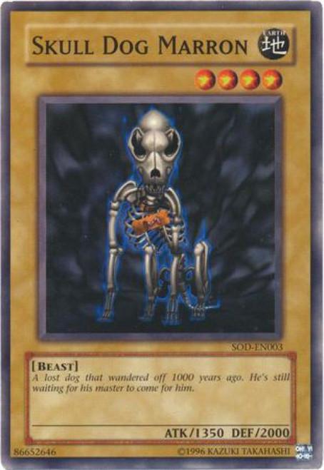 YuGiOh Soul of the Duelist Common Skull Dog Marron SOD-EN003