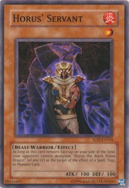 YuGiOh Soul of the Duelist Common Horus Servant SOD-EN016