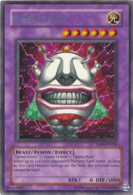 YuGiOh Soul of the Duelist Rare Ojama King SOD-EN034