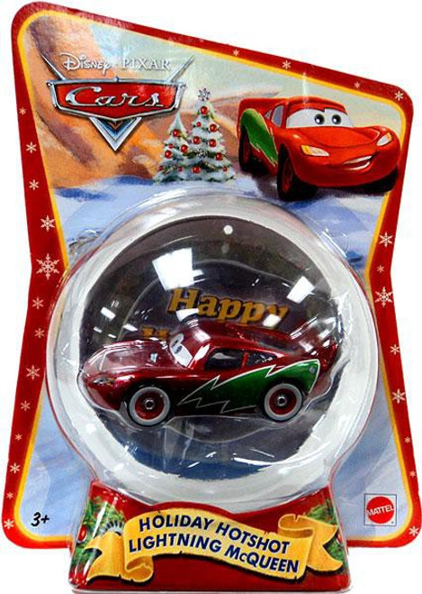 Disney / Pixar Cars Christmas Package Holiday Hotshot Lightning McQueen Exclusive Diecast Car [2011]