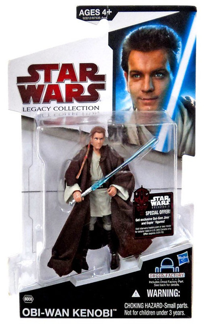 Star Wars Phantom Menace 2009 Legacy Collection Droid Factory Obi-Wan Kenobi Action Figure BD06