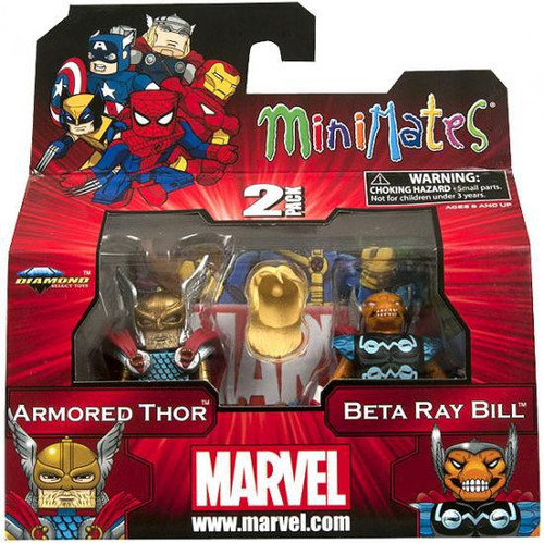 Marvel Minimates Series 42 Armored Thor & Beta Ray Bill Minifigure 2-Pack