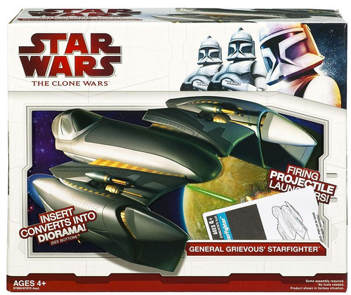 Star Wars The Clone Wars 2009 General Grievous' Starfighter Action Figure Vehicle