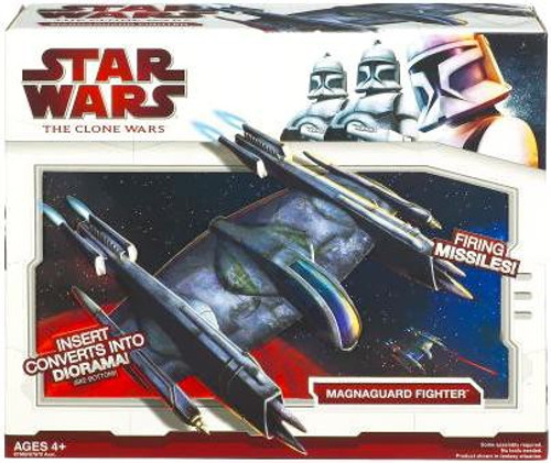 Star Wars The Clone Wars 2009 Magnaguard Fighter Action Figure Vehicle