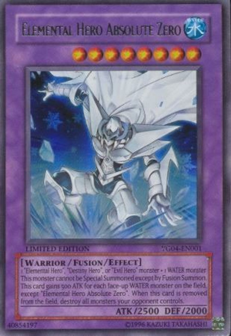 YuGiOh Shonen Jump Ultra Rare Elemental Hero Absolute Zero YG04-EN001