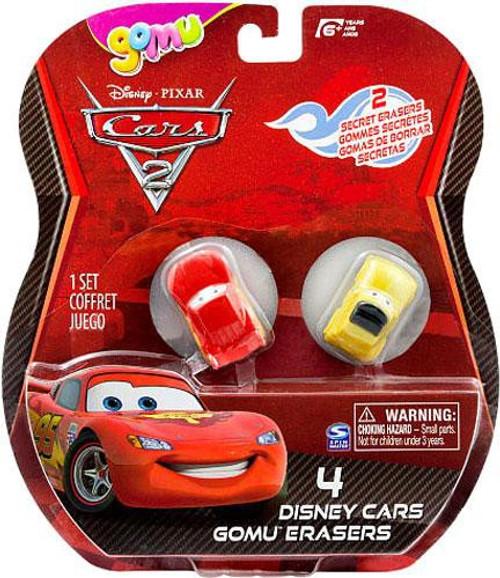 Disney / Pixar Cars Cars 2 Gomu Lightning McQueen & Luigi Gomu Erasers 4-Pack
