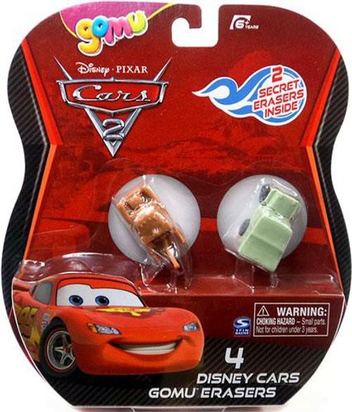 Disney / Pixar Cars Cars 2 Gomu Mater & Sarge Gomu Erasers 4-Pack