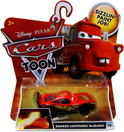 Disney / Pixar Cars Cars Toon Main Series Soaked Lightning McQueen Diecast Car #10