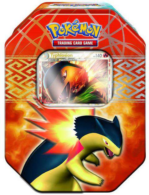 Pokemon Trading Card Game 2010 HeartGold & Soulsilver Typhlosion Tin Set