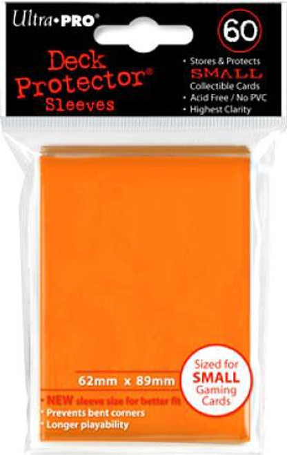Ultra Pro Card Supplies Deck Protector Orange Small Card Sleeves [60 Count]