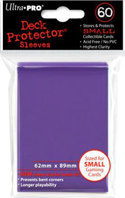 Ultra Pro Card Supplies Deck Protector Purple Small Card Sleeves [60 Count]