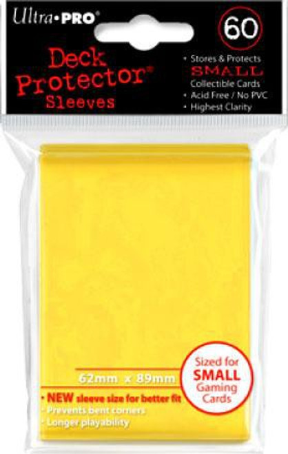 Ultra Pro Card Supplies Deck Protector Yellow Small Card Sleeves [60 Count]