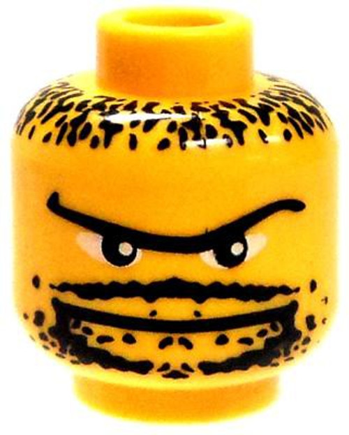 Unibrow, Goatee & Stubble Minifigure Head [Yellow Loose]