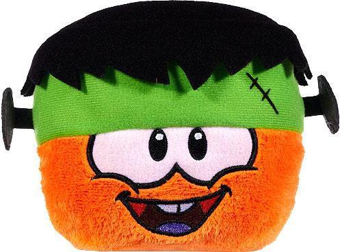 Club Penguin Series 10 Orange Puffle 4-Inch Plush [Frankenpenguin Hat]