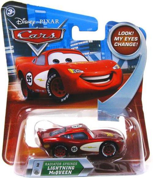 Disney / Pixar Cars Lenticular Eyes Series 2 Radiator Springs Lightning McQueen Diecast Car