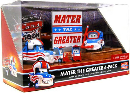 Disney / Pixar Cars Cars Toon Multi-Packs Mater the Greater 4-Pack Diecast Car Set [Set #1]