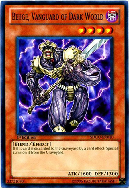 YuGiOh YuGiOh 5D's Structure Deck: Gates of the Underworld Common Beiige, Vanguard of Dark World SDGU-EN010