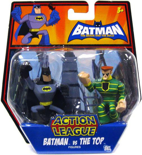 The Brave and the Bold Action League Batman Vs. The Top Mini Figure 2-Pack