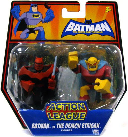 The Brave and the Bold Action League Batman Vs. The Demon Etrigan Mini Figure 2-Pack