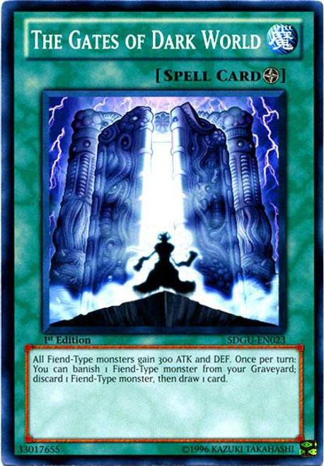 YuGiOh YuGiOh 5D's Structure Deck: Gates of the Underworld Common The Gates of Dark World SDGU-EN023