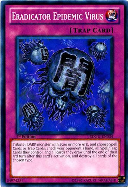 YuGiOh YuGiOh 5D's Structure Deck: Gates of the Underworld Common Eradicator Epidemic Virus SDGU-EN034