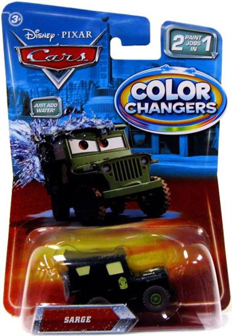 Disney / Pixar Cars Color Changers Sarge Diecast Car