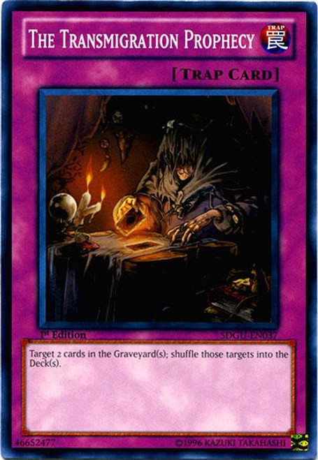 YuGiOh YuGiOh 5D's Structure Deck: Gates of the Underworld Common The Transmigration Prophecy SDGU-EN037