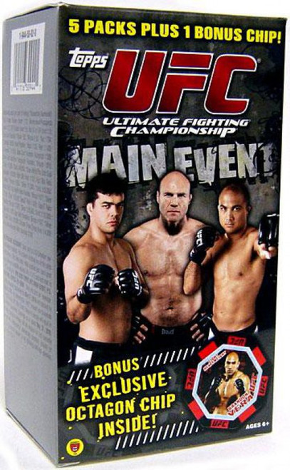 UFC Topps 2010 Round 3 Main Event Trading Card BLASTER Box [5 Packs + 1 Bonus Chip!]