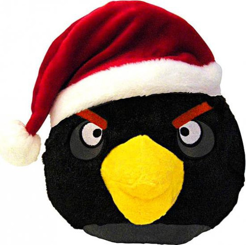 Angry Birds Black Bird 8-Inch Plush [Christmas]
