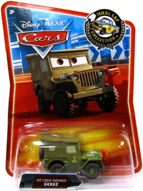 Disney / Pixar Cars Final Lap Collection Pit Crew Member Sarge Exclusive Diecast Car