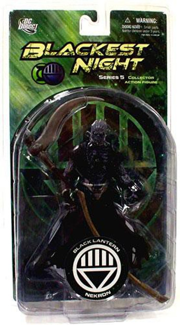 DC Green Lantern Blackest Night Series 5 Black Lantern Nekron Action Figure