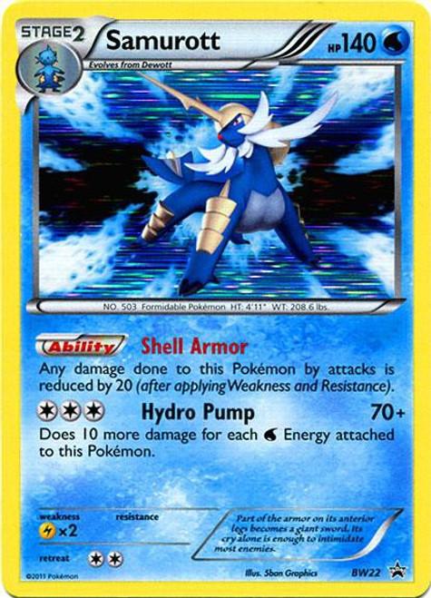 Pokemon Black & White Promo Rare Holo Samurott BW22