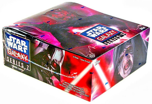 Star Wars Topps Galaxy Series 7 Trading Card HOBBY Box [24 Packs]