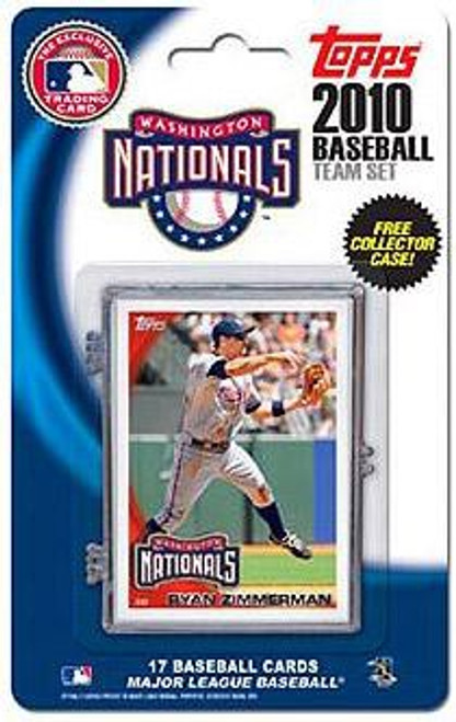 MLB 2010 Topps Baseball Cards Washington Nationals Exclusive Team Set