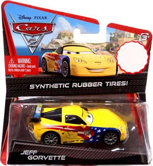 Disney / Pixar Cars Cars 2 Synthetic Rubber Tires Jeff Gorvette Exclusive Diecast Car