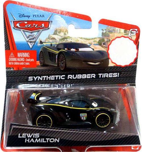 Disney / Pixar Cars Cars 2 Synthetic Rubber Tires Lewis Hamilton Exclusive Diecast Car